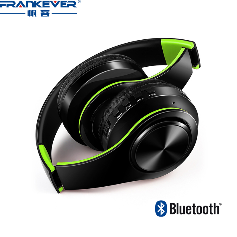 Wireless bluetooth 4.0 headphones for mobile phone TF card Audio bilateral stereo sound sport headphone/headsets microphone<br>