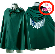 Anime Cosplay Costume Attack on Titan Shingeki no Kyojin Scouting Legion Blue Wing Cloak Cape Outfit New in Stock