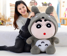 1Pcs 35cm Crayon Shin Chan Mascot Plush toy doll Totoro Plush Toys doll hat can take off Best Gift