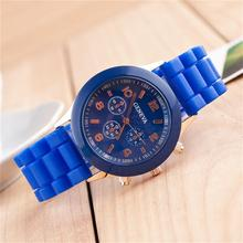 Boys and girls candy colored jelly watch rubber silicone shoots Men Women Date Fashion Accessories