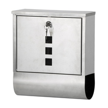 Waterproof Stainless Steel Lockable Mailbox Newspaper Holder Outdoor Mail Post Letter Box(China)