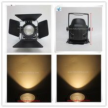 Professional Stage Lighting Black COB LED Pan warm white cool white DMX 200w barn door LED COB Par