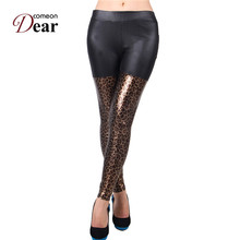 Comeondear TA2433 Lady Fashion Casual Legging Soft Leggings Women Leopard Pants Sexy Leggings High Elastic Stretch Pants