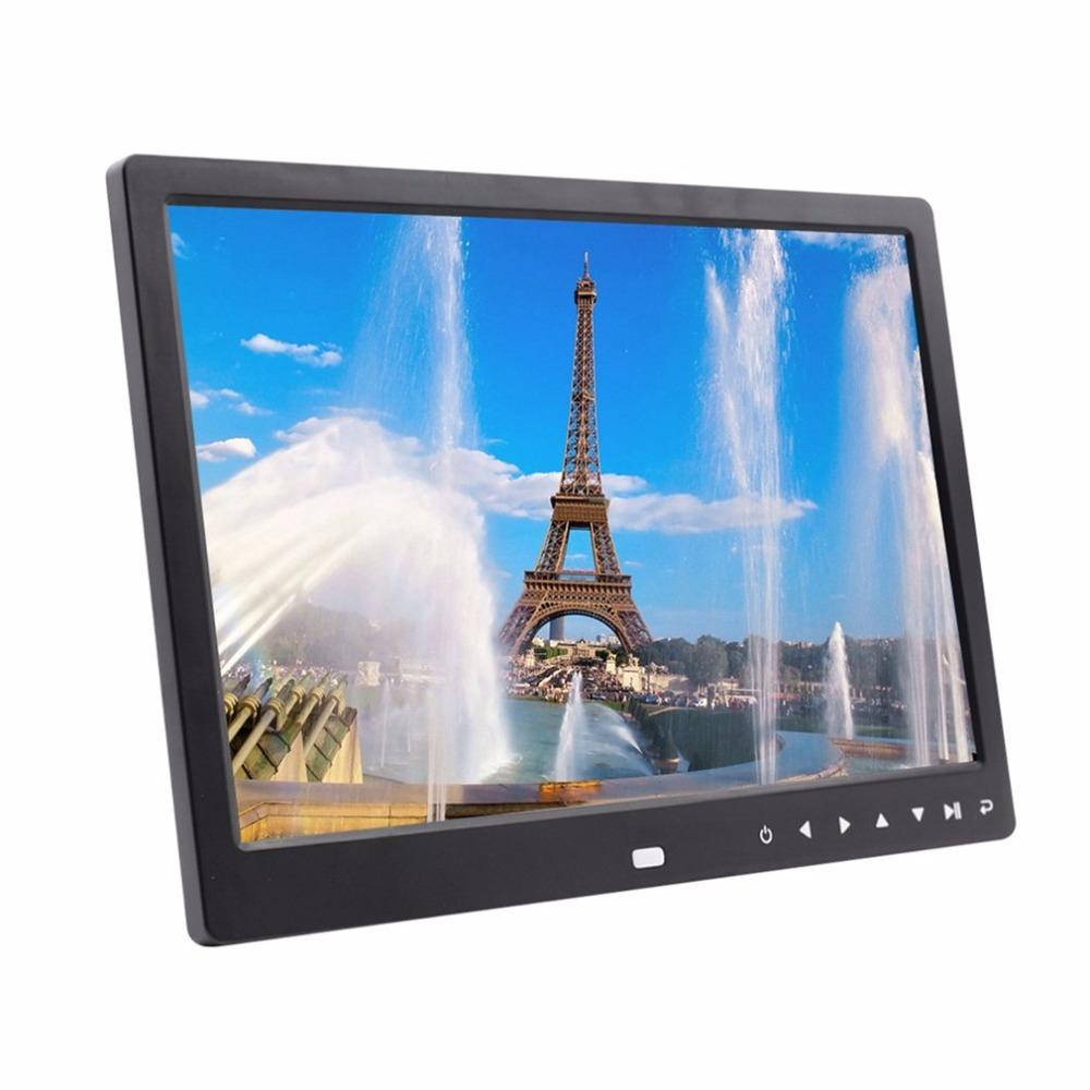 12 In Electronic Digital Photo Frame with Clock/Calendar/Remote Control/Built-in Speaker/Resolution 1280*800