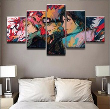 Doodle Painting Top-Rated Canvas Print Modern Decor Childrens Room Home Wall Art Decor Anime Posters Naruto 5 Piece One Set Role