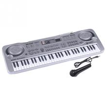 Children 21inch Beginner 61 Keys Electric Keyboard Piano Organ Electone LED USB MP3 & Microphone Education Toy For Kid Gift