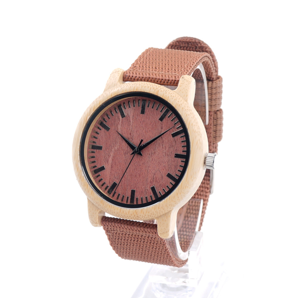 BOBO BIRD New Arrival Red Wood Watch For Women And Me %