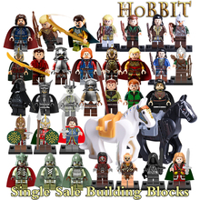 Building Blocks Hobbit Uruk Hai King Theoden Aragorn Wraith The Lord of the Rings diy figures Models Bricks Kids DIY Toys Horse