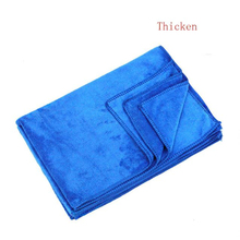 New Arrival Thicken 40*60cm Blue Absorbent Wash Cloth Car Auto Care Microfiber Cleaning Towels Cloths Ap21(China)
