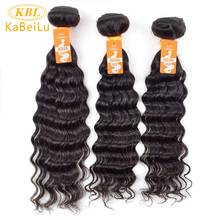 "KBL Indian Virgin Hair Deep Wave Curly Kabeilu Unprocessed Hair Bundle 100% Human Hair Weave Extension Products 10""-40"" Inch"