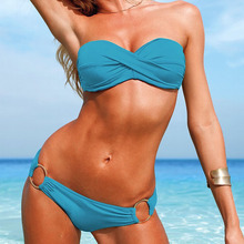 Buy New Hot Push Bikini Brazilian Biquini Swimsuits Swimwear Women Sexy Bikinis Set Bathing Suit Swim Suit Beach Wear