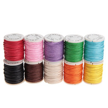 10pcs/set 10M 1MM Waxed Cotton Cords Strings Ropes for DIY Sewing Necklace Bracelet Craft Making (Random Color)