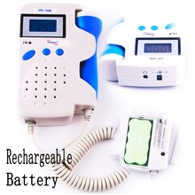 +Rechargeable Batteries & Gel 2.5MHz LCD display Home Using Ultrasound Handheld Prenatal Monitor Baby Fetal Heart Rate Detector