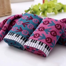 1pc cotton thickening sports soft absorbent beach Piano keyboard lovers creative towel(China)