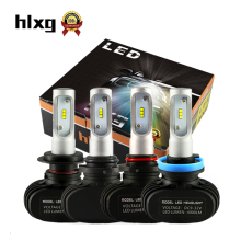 hlxg 2PCS S1 Auto H3 H8 H11 H4 Led H7 Bulb Car Headlight High Low Beam 50W 8000LM 12V 24V Fog Light Kit Super Bright Car Lights(China)