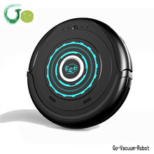 Smart Mini Ultra-thin light Dry Robot Vacuum Cleaner with long side brush low noise resuable clean cloth vacuum hoover