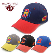 Fashion high quality cotton embroidered letter B baseball cap Cotton hat Adjustable Adult Unisex Special promotional Hats