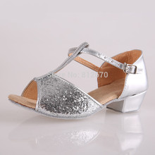 In stock lots of style Children latin/modern/practice dance shoes, Girls Shoes, Kid Ballroom Salsa Shoes XC-5126