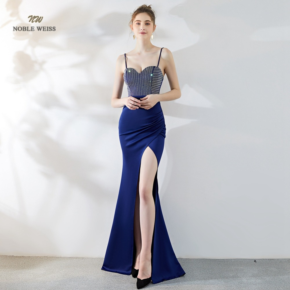 Sexy Prom Dresses 2019 Sweetheart Crystal Mermaid Split Green Floor-Length In Stock Party Dress