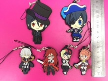 Anime Black Butler Phone strap/Keychain Pendant toys Book of Circus pvc Figure Phone strap Pendants