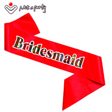 10pcs red bridesmaid sash team bride to be supplies hen night bachelorette bridal shower wedding event party supplies fun gift(China)