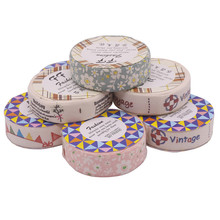 8 volumes 8 Different Patterns Mixed Fabric Tape DIY Album Decorative Tape Single Volume Size 1.5 cm Width 1 m Length