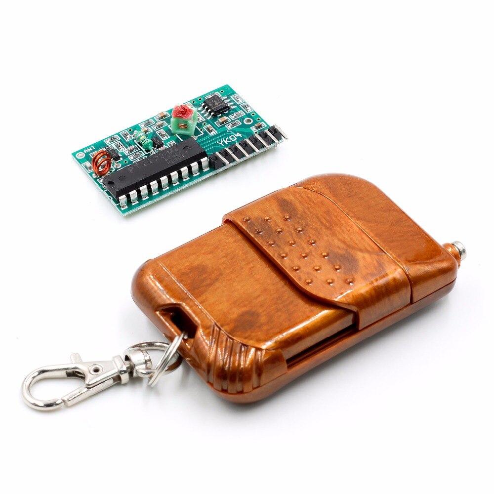 1set 2262/2272 Four Ways Wireless Remote Control Kit,M4 the lock Receiver with 4 Keys Wireless Remote Control 6