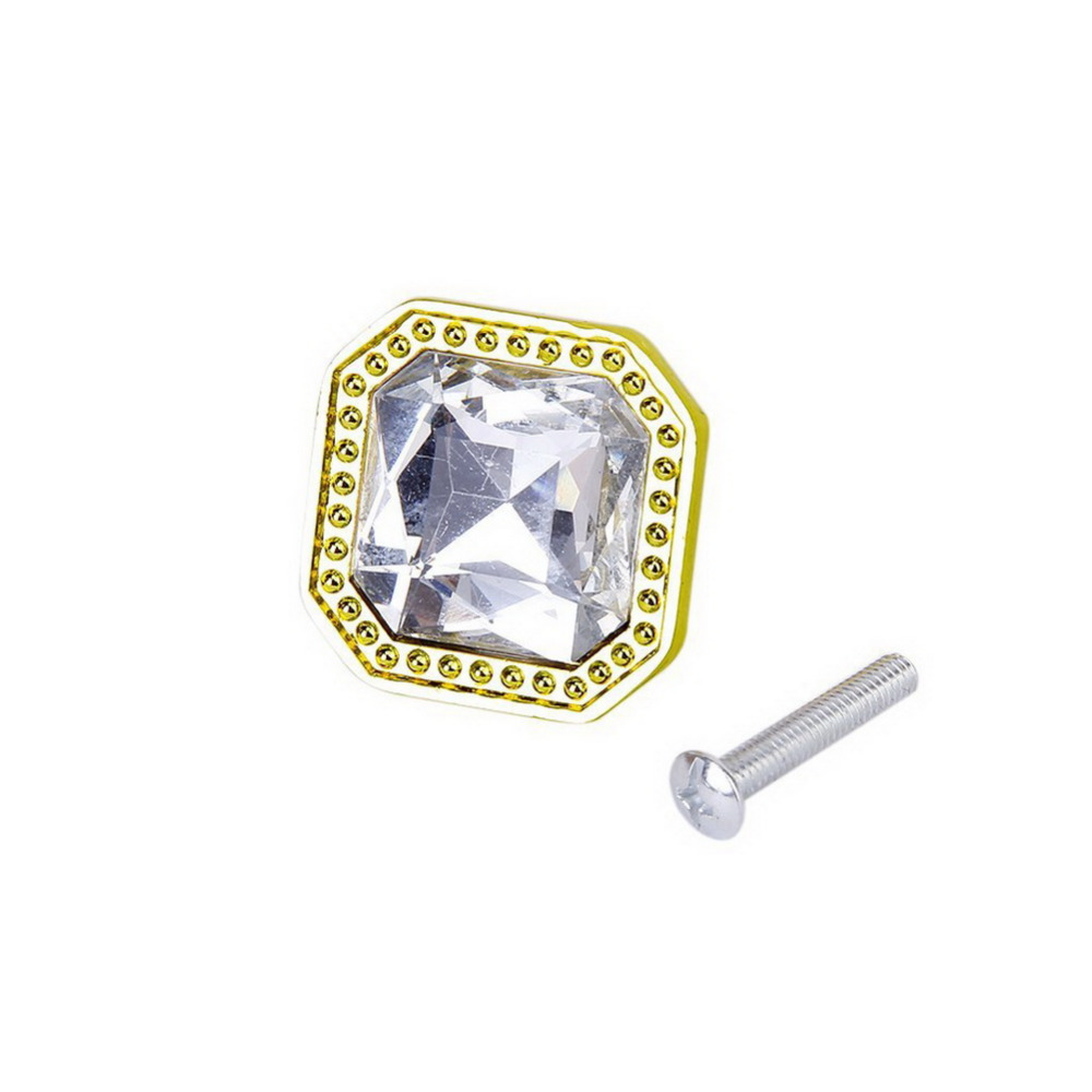 1pcs Square Rhinestone Drawer Cabinet Handle Pull Knob<br><br>Aliexpress