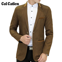 New Arrival Blazer Men Brand-Clothing Solid Color Cotton Slim Fit Fashion Men's Blazers Design Social Coats and Jacket Masculine(China)