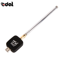 EDAL Mini Micro USB DVB-T tuner TV receiver Dongle/Antenna DVB T HD Digital Mobile TV HDTV Satellite Receiver for Android Phone(China)