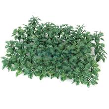 New 50pcs Green Scenery Landscape Model Ground Cover Grass with Crushed Leaves(China)