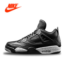 New Arrival Official Nike Air Jordan 4 Oreo AJ4 Breathable Women's Basketball Shoes Sports Sneakers(China)