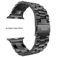HOCO 42mm Watchband Steel Stainless Metal Strap Classic Buckle Adapter Watch Bands Apple - Rosegal Wach store