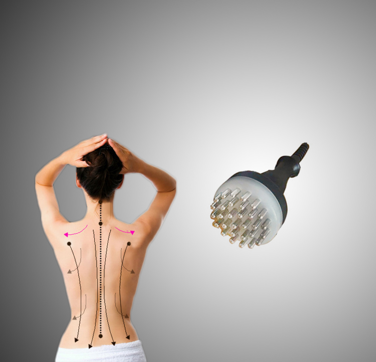 Infrared Meridian Therapy Machine Full body Acupuncture massage brush Pain Relief<br>