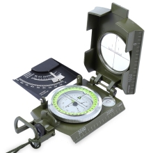 Outdoor Water Resistant Luminous Compass Military Army Geology Compass American Military Multifunction Compass Free Shipping(China)