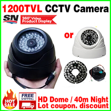 Increase Style 48pcs led 1/3cmos 1200TVL CCTV AHDL HD Camera Security surveillance products Color image home Video dome vidicon(China)
