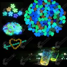 100pcs/lot Garden Ornaments Stone Glow In The Dark Luminous Pebbles Stones for Walkway Wedding Decoration Party Event Supplies