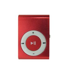 Metal Mp3 Music Player With Micro TF SD Slot & Clip & No Screen 8 Colors Black Silver Blue Green Red Rose Red Purple Gold