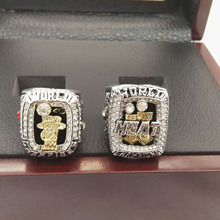 Factory direct sale Wooden Boxes with 2012/3013 James heat Miami basketball championship rings sets(China)