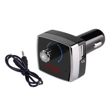Car Kit MP3 Player Bluetooth Connection Dual USB 3.1A Hands-free Call FM Transmitter Charger Battery Voltage Detection