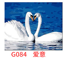 MaHuaf-X226 DIY oil painting by numbers Hand Painted romatic love of goose Acrylic Picture Wall Art drawing by numbers on canvas