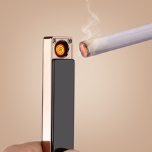 USB Recharge Cigarette Lighters Windproof lighters Flameless electronic cigarette lighter for man
