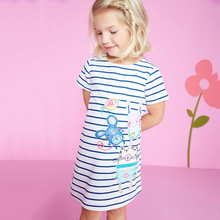 Girls Summer Dress Baby Clothing 2017 Brand Kids Moana Dresses for Girl Clothes Animal Print Robe Enfant Children Dress Princess(China)