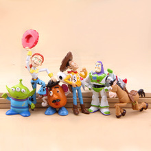 free shipping New 6pcs/set TOY STORY 3 BUZZ LIGHTYEAR WOODY Figures Classic toys kids toy gift