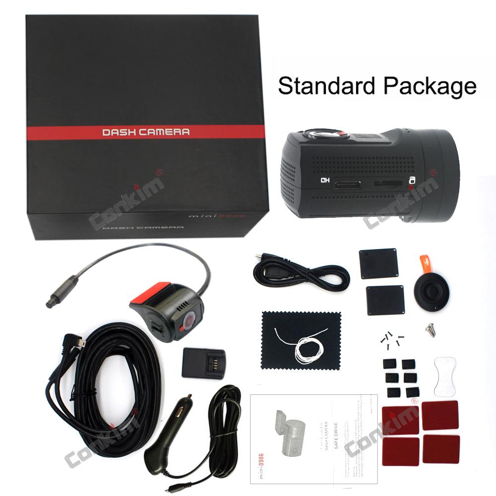 Conkim Dual Lens Car Dash Camera GPS DVR Front 1080P FHD+Rear Camera 1080P FHD Parking Guard Motion Detect Mini 0906 Novatek Cam 30
