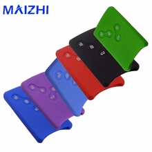 maizhi Silicone Rubber Car Key Cover Case Car Styling Cover For Renault Clio Logan Megane 2 3 Koleos Scenic Card Keychain Case(China)