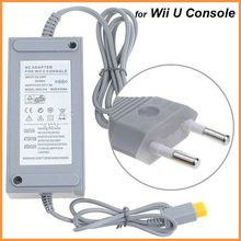 Free shipping Game accessories EU Plug AC Wall Charger Power Adapter for Nintendo Wii U Console