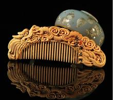 hot sell fine carved wooden comb 12*5cm,carving art boxwood comb Chinese dragon,anti-static head massage health care comb