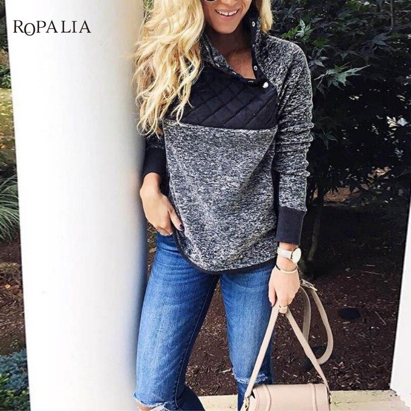 Women Fleece Sweatshirt High Neck Long Sleeve Warm Ladies Pullover Female Casual Loose Tops 10