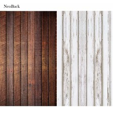 NeoBack new born baby Photography Background Wood Floor Digital Printing Vinyl Cloth Studio Photo Backdrops white brown options(China)